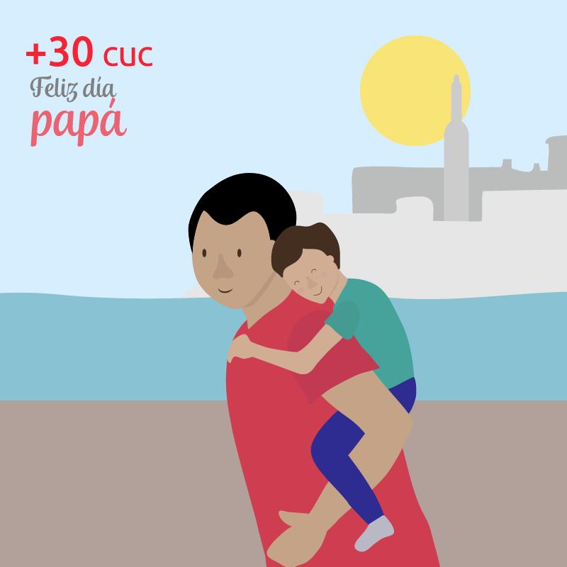 Recarga Cubacel +30 CUC