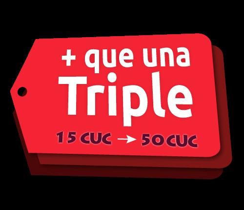Recarga Triple Plus Cubacel de Julio